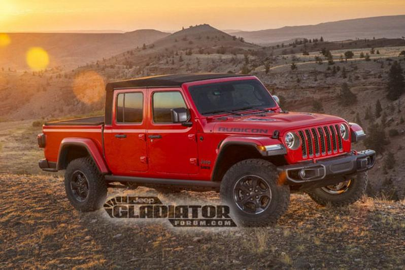 Jeep Gladiator gelekt