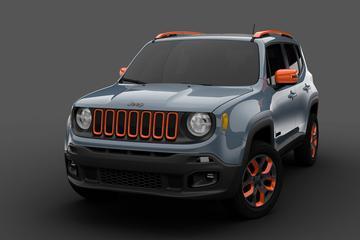 Mopar met twee dikke Jeeps Renegade in Detroit