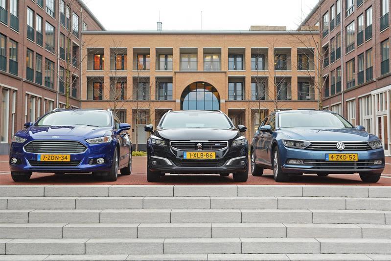 Ford Mondeo Wagon - Peugeot 508 SW - Volkswagen Passat Variant