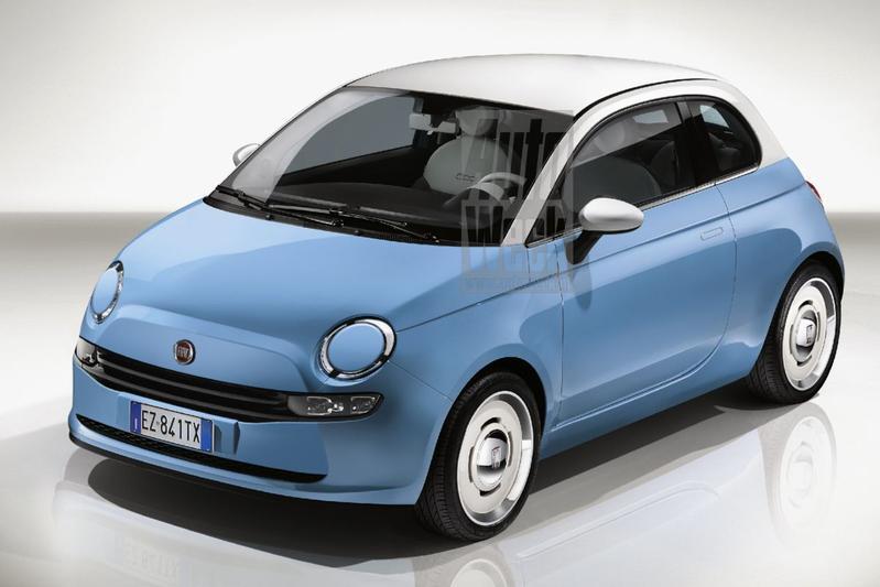 Fiat 500 blik to the future
