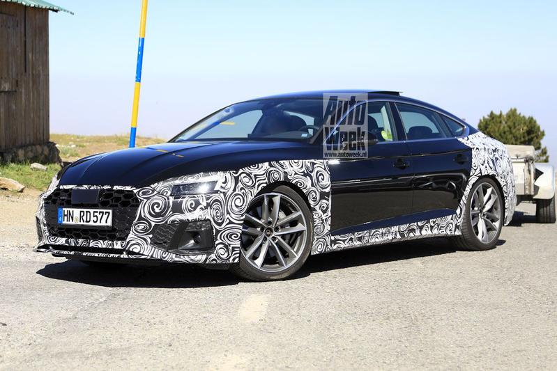 Audi A5 Sportback facelift spyshots