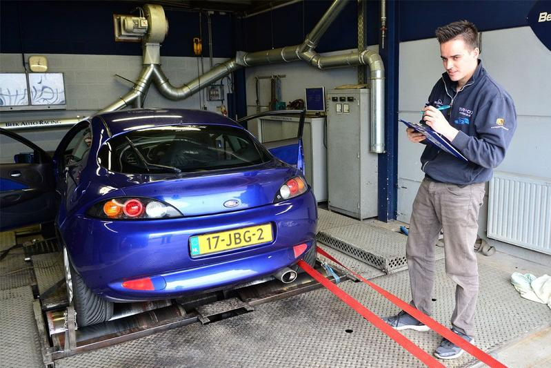 Op de rollenbank - Ford Racing Puma
