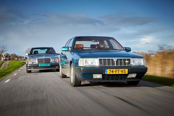 Video: Lancia Thema 8.32 vs. Mercedes 500 E - Classics dubbeltest