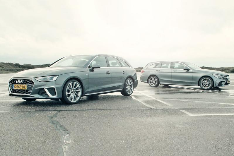Audi A4 40 TFSI Avant vs. Mercedes-Benz C200 Estate - AutoWeek dubbeltest
