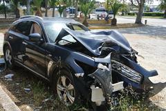 Crash ongeval Infiniti FX