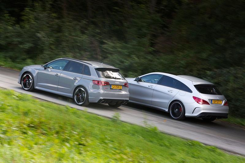 Mercedes CLA 45 AMG Shooting Brake - Audi RS3