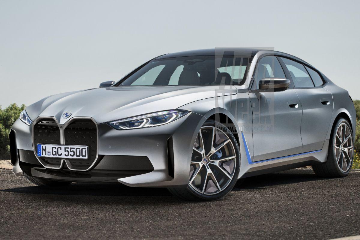 BMW i4 render vooruitblik blik to the future