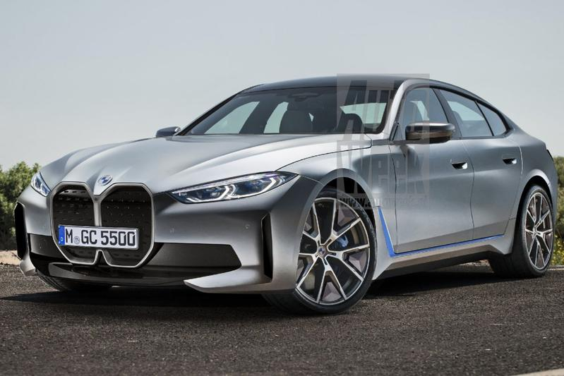 BMW i4 render vooruitblik blik to the future