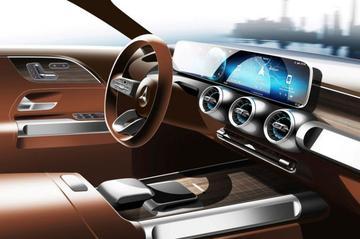Binnenste Mercedes-Benz GLB in beeld