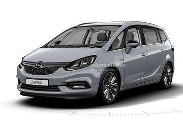 Gelekt: gefacelifte Opel Zafira