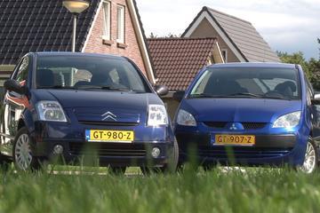 Occasiontest - Citroën C2 (2006) vs. Mitsubishi Colt (2008)