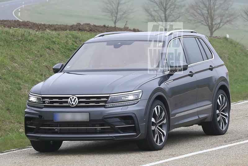 Volkswagen Tiguan R spyshots