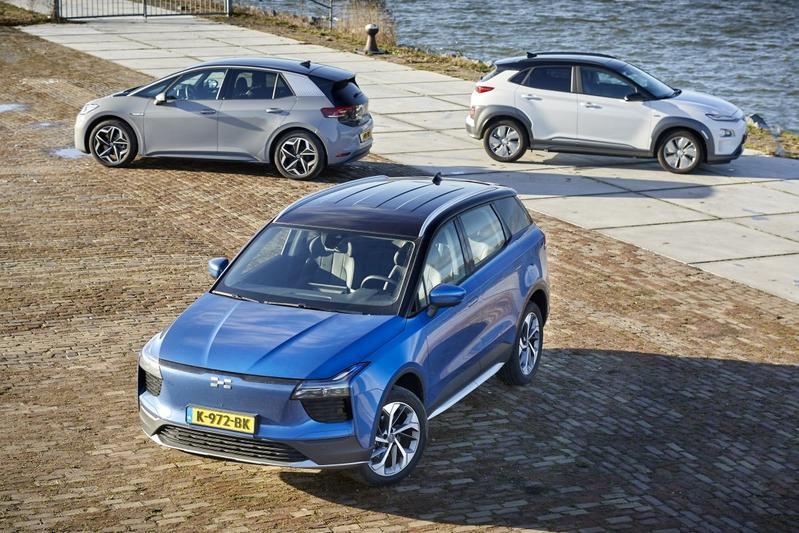 Aiways U5 vs. Hyundai Kona Electric vs. Volkswagen ID.3 - Triotest