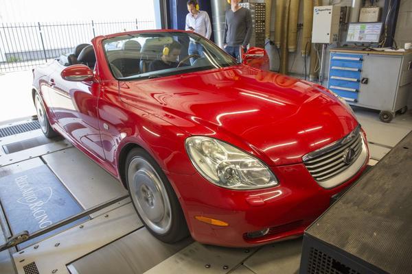 Lexus SC 430 - Op de Rollenbank