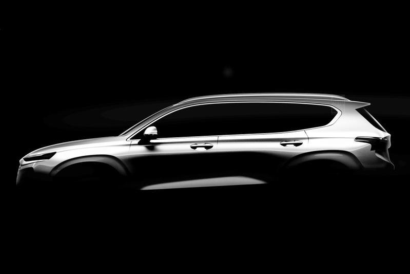 Nieuwe Hyundai Santa Fe schemert door