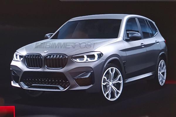 BMW X3 M schemert door