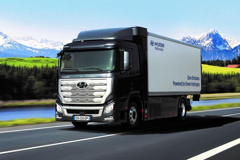 Hyundai waterstof vrachtauto H2 Xcient
