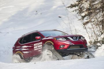 Nissan 'X-Trail' met rupsbanden voor Canada