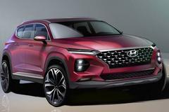 Hyundai Santa Fe geschetst