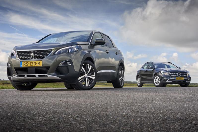 Mercedes-Benz GLA vs. Peugeot 3008 - Occasiondubbeltest