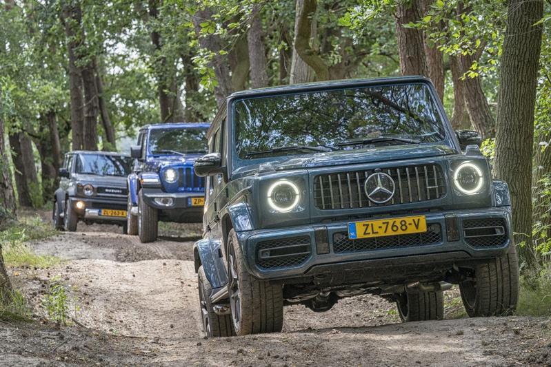 Jeep Wrangler - Mercedes G65 AMG - Suzuki Jimny - Reportage