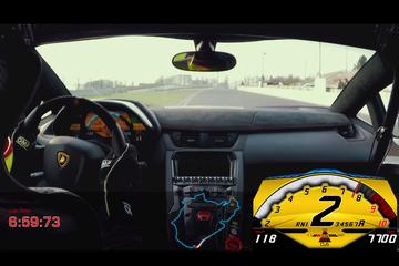 Aventador SV in minder dan 7 minuten over Ring