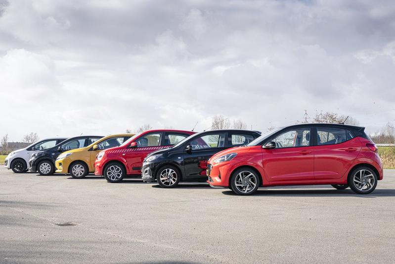 Hyundai i10 - Kia Picanto - Mitsubishi Space Star - Peugeot 108 - Renault Twingo - VW Up - Multitest