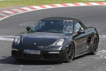 Porsche Boxster facelift gespot
