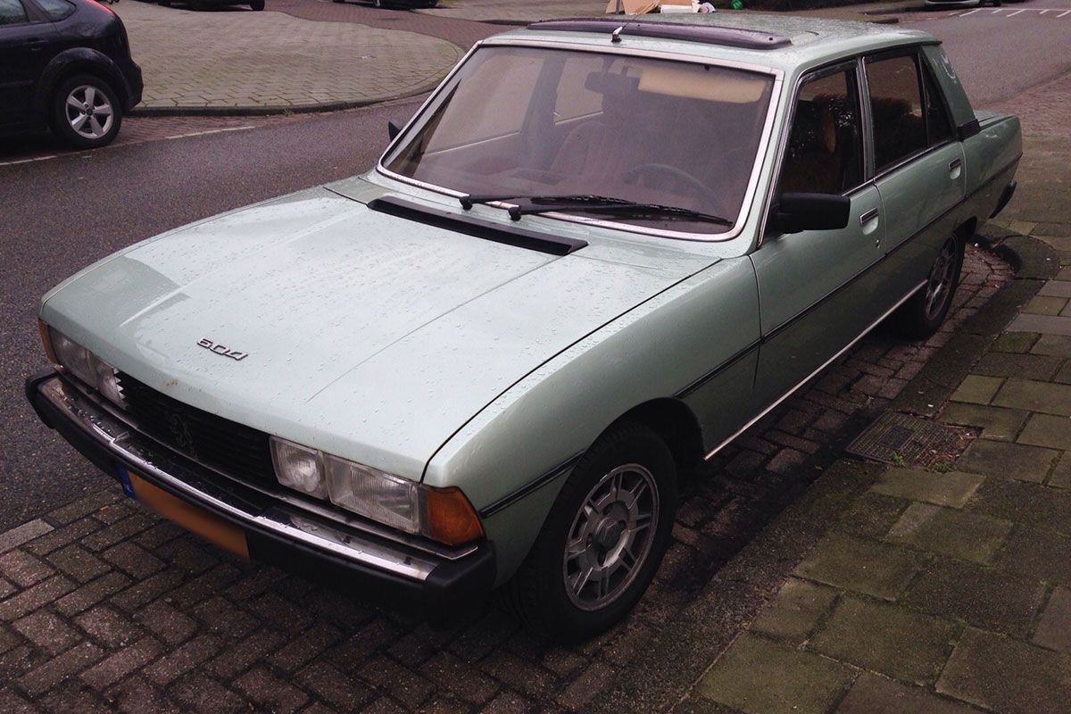 in het wild peugeot 604 d turbo 1982 autonieuws. Black Bedroom Furniture Sets. Home Design Ideas