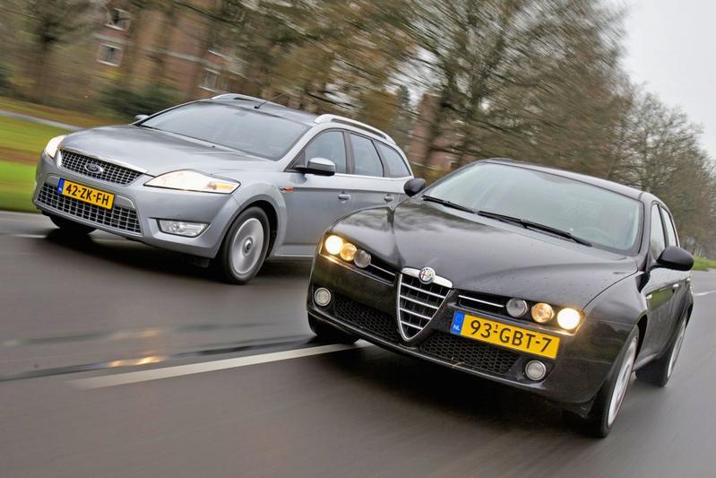 Dubbeltest - Alfa Romeo 159 (2008) vs Ford Mondeo (2008)