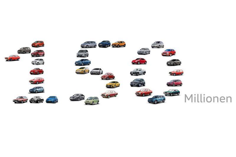 Volkswagen bouwt 150 miljoenste auto