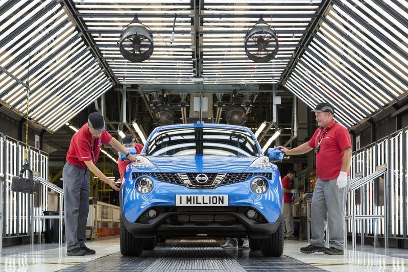 Nissan bouwt miljoenste Juke in Sunderland