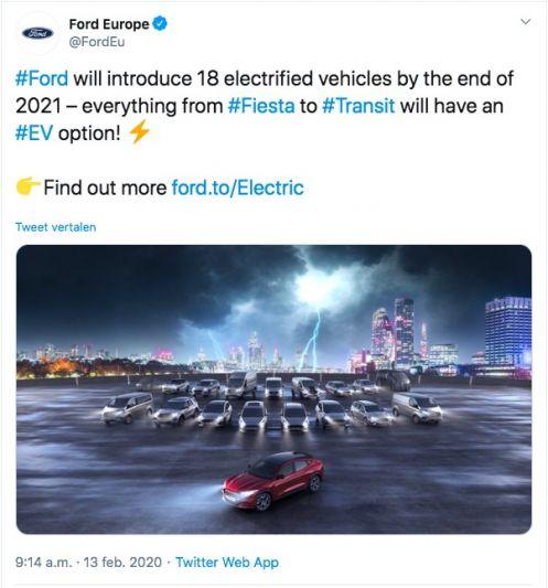 Ford EV Tweet 2021