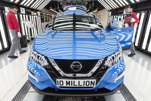 Mijlpaal: tien miljoenste Nissan uit Sunderland-fabriek