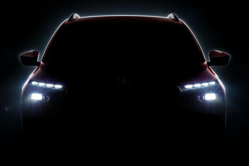 Skoda SUV geneve teaser
