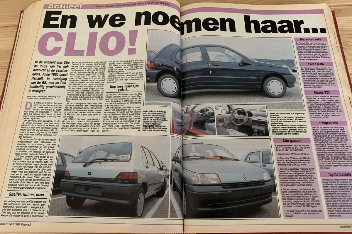 Renault Clio AutoWeek 1990