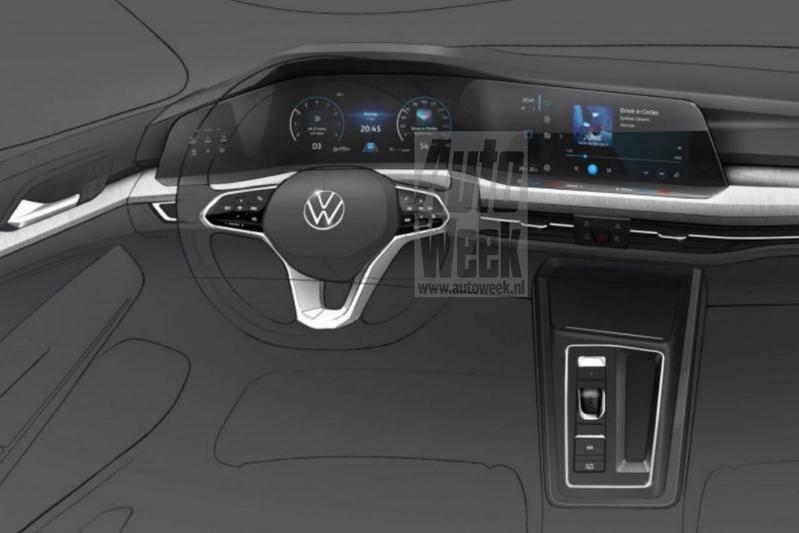 Volkswagen Golf interieurschets