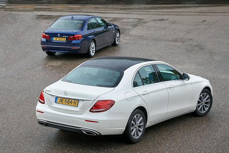 Mercedes E-klasse vs. BMW 5-serie - Dubbeltest