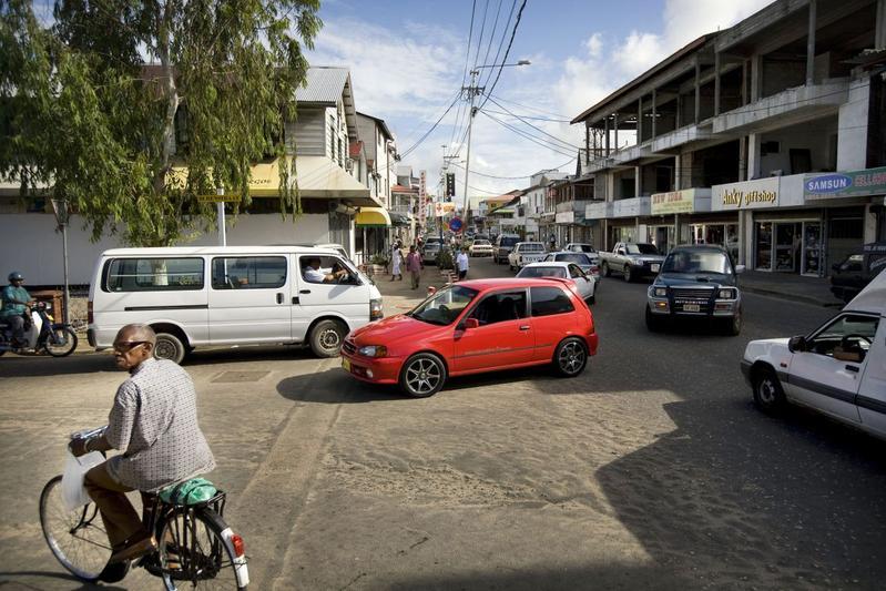 Suriname straatbeeld Paramaribo