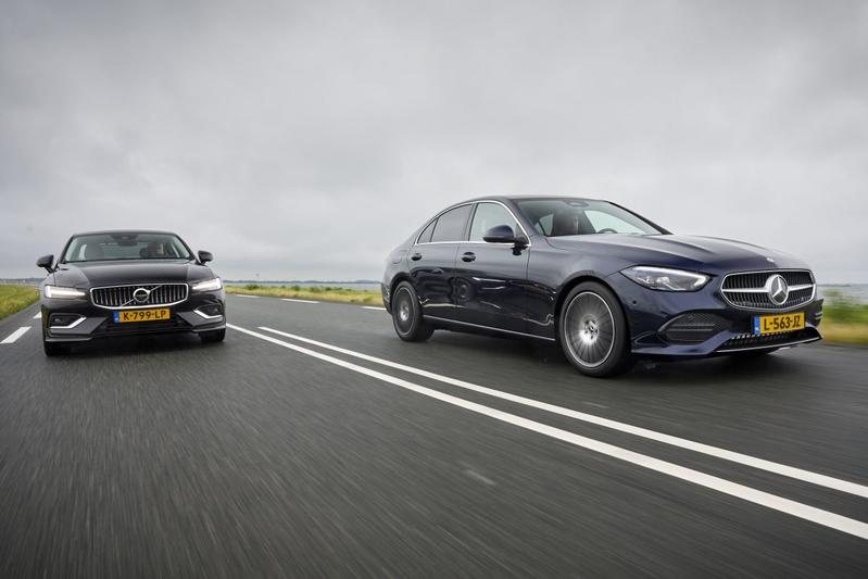 Mercedes-Benz C-klasse vs. Volvo S60 - Dubbeltest