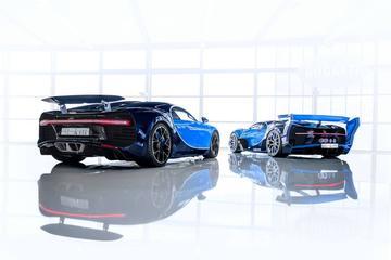 Bugatti slijt showauto Chiron én Vision GT