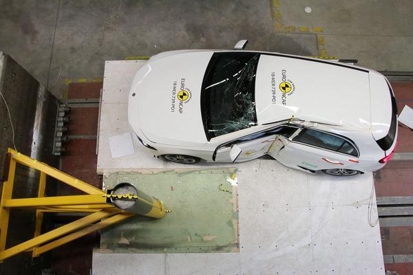 Zeven nieuwe auto's belanden tegen Euro NCAP-muur