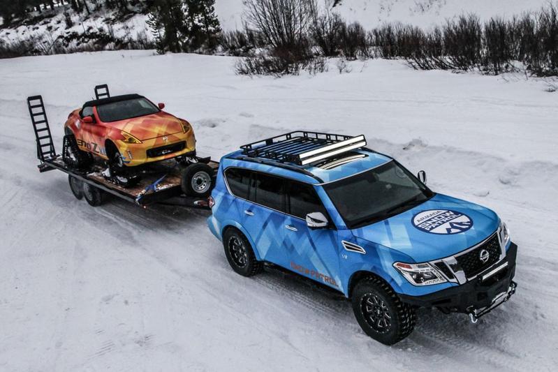 Winterklaar: Nissan Armada Snow Patrol en 370Zki