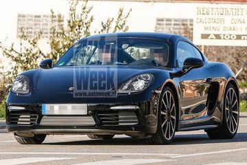 Gefacelifte Porsche Cayman ongecamoufleerd