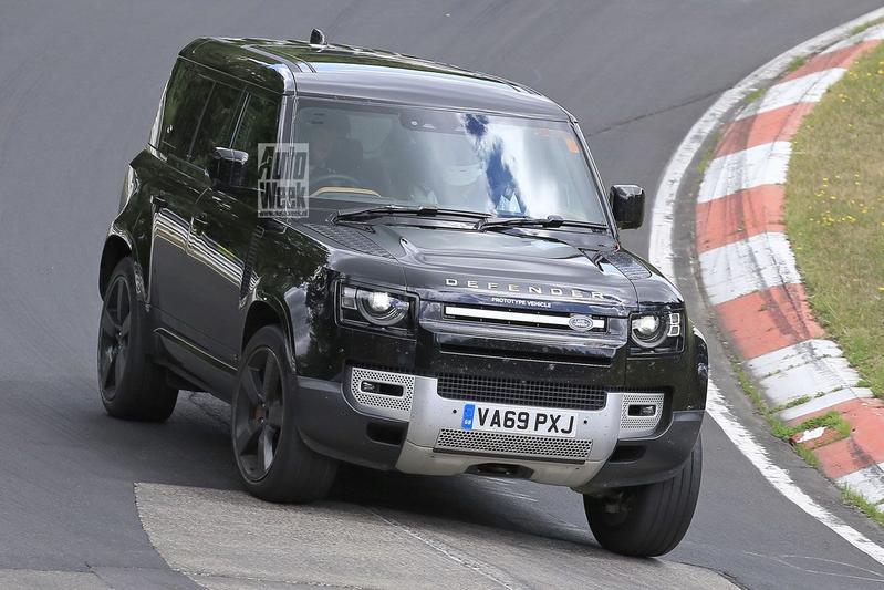 Spyshots Land Rover Defender V8