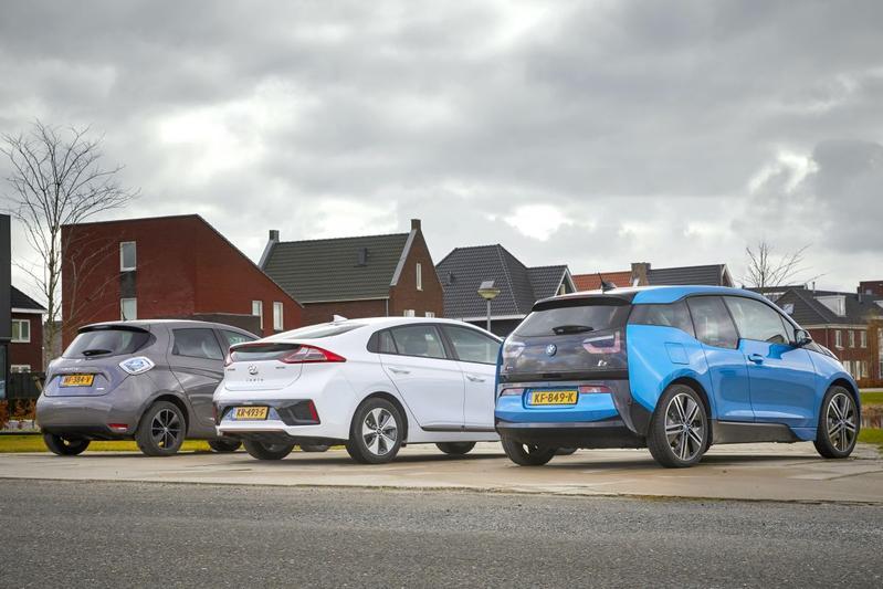 EV's opladen elektrisch rijden multitest Zoe i3 Io