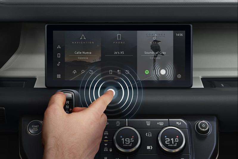 Jaguar Land Rover touchscreen predictive touch
