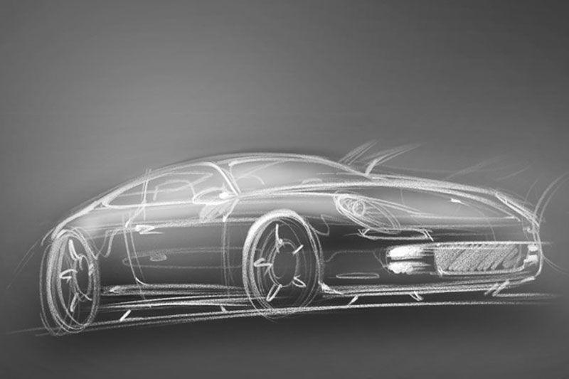 Porsche schets