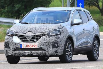 Facelift Renault Kadjar onderweg