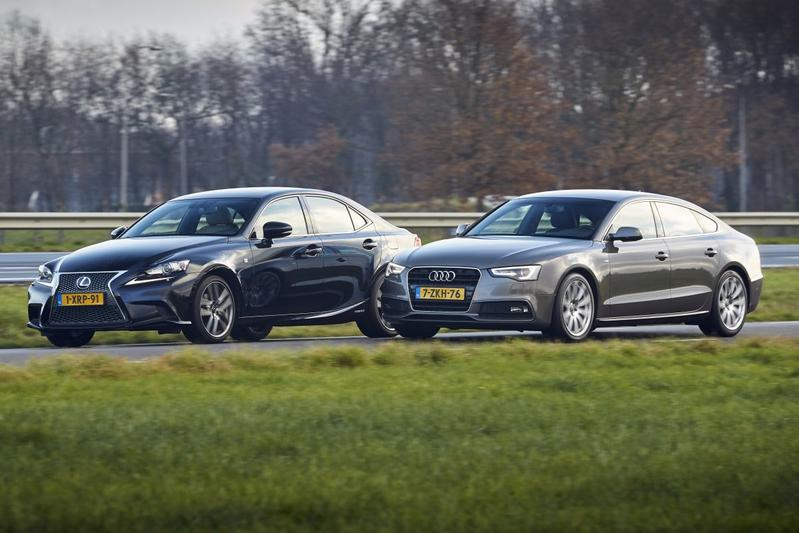 Lexus IS 300h (2014) - Audi A5 Sportback (2015) - Occasiondubbeltest